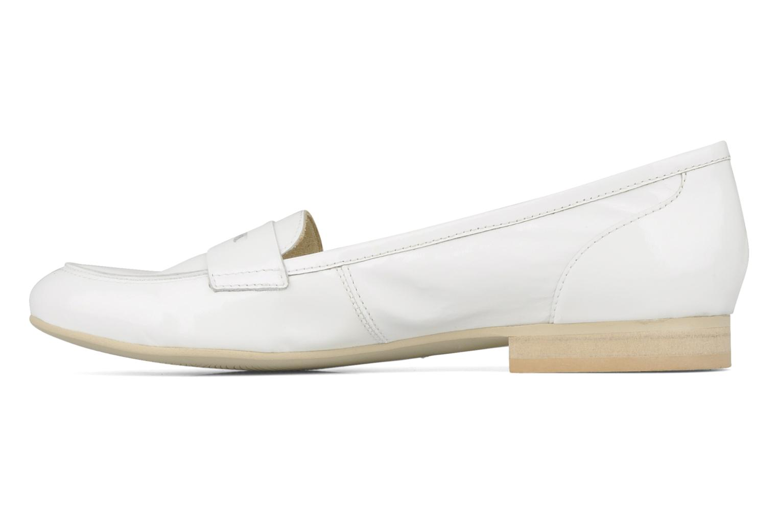 Loafers Georgia Rose Afuro White front view