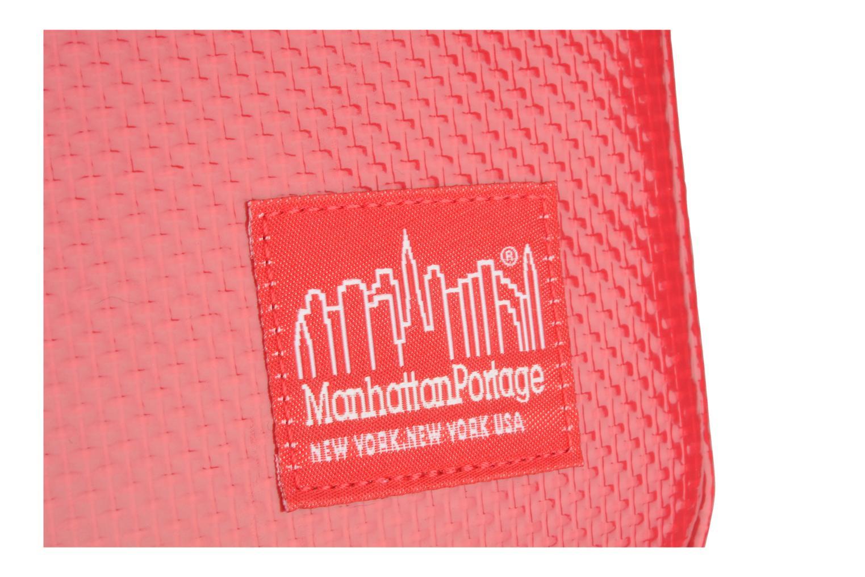 Kleine lederwaren Manhattan Portage Vinyl ipad sleeve Rood links