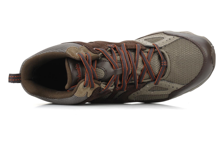 Scarpe sportive Columbia Wallawalla 2 mid omni-tech m Marrone immagine sinistra