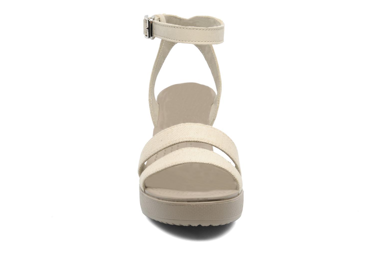 Zapatos promocionales Crocs Leigh wedge (Beige) - Sandalias   Zapatos casuales salvajes