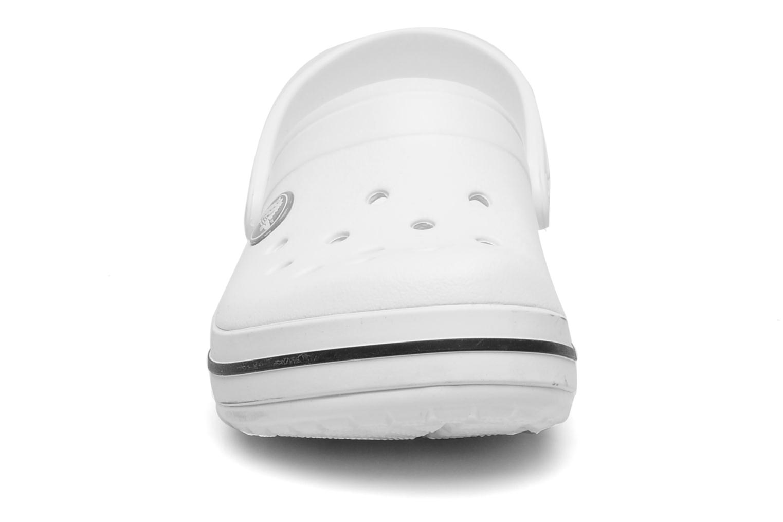 Sandales et nu-pieds Crocs Crocband kids Blanc vue portées chaussures