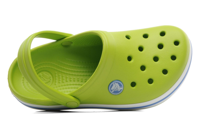 Sandalen Crocs Crocband kids grün ansicht von links