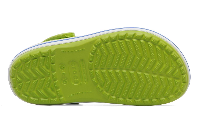 Sandalen Crocs Crocband kids grün ansicht von oben