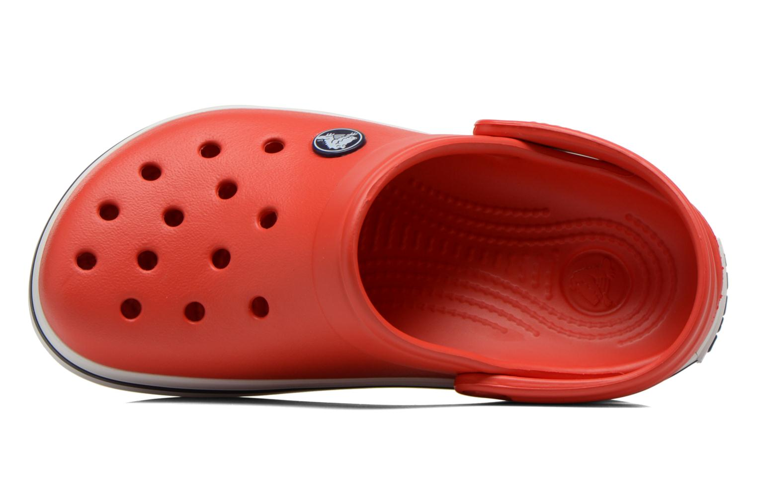 Sandals Crocs Crocband kids Red view from the left