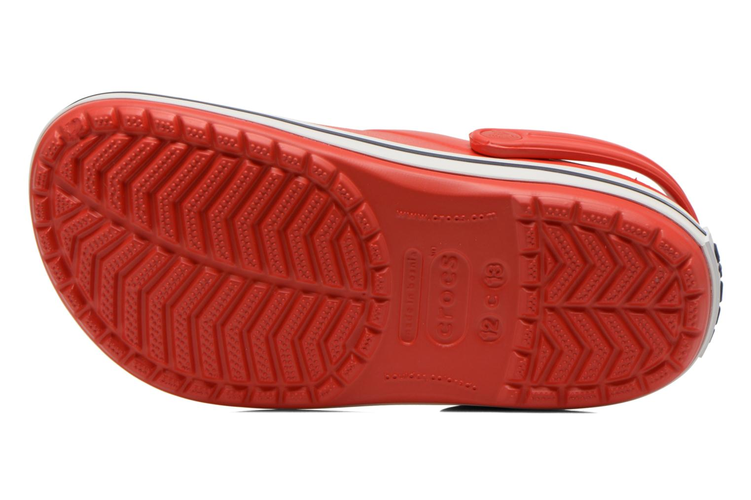 Sandals Crocs Crocband kids Red view from above