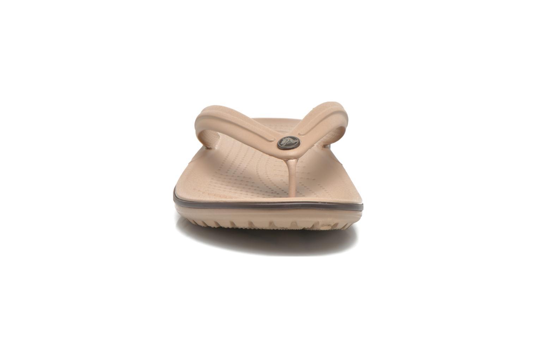 Zehensandalen Crocs Crocband Flip M beige schuhe getragen