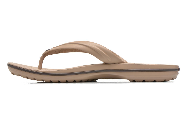 Zehensandalen Crocs Crocband Flip M beige ansicht von vorne