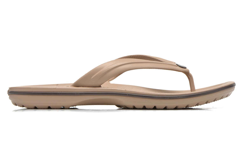 Zehensandalen Crocs Crocband Flip M beige ansicht von hinten