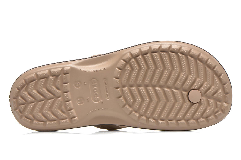 Zehensandalen Crocs Crocband Flip M beige ansicht von oben