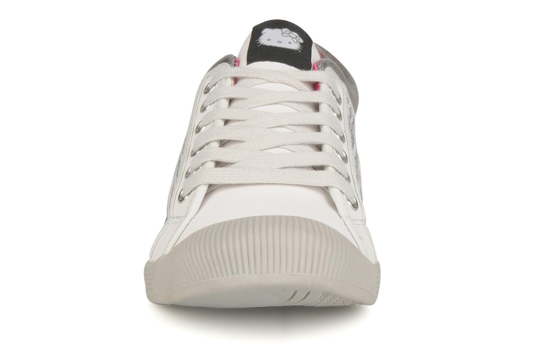 Baskets Hello Kitty Hk luna low Blanc vue portées chaussures