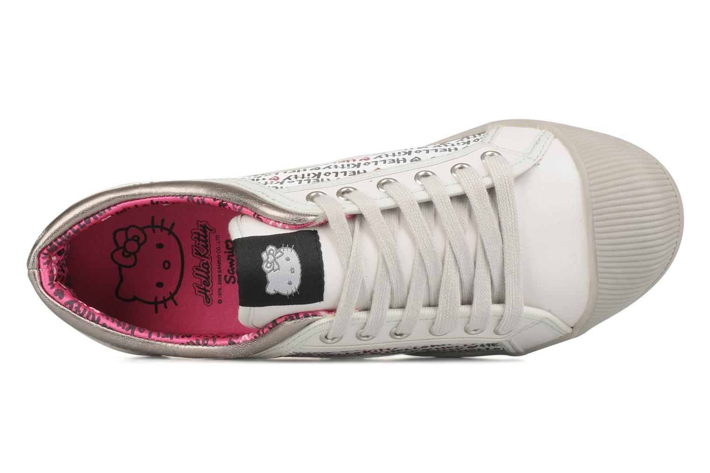 Baskets Hello Kitty Hk luna low Blanc vue gauche