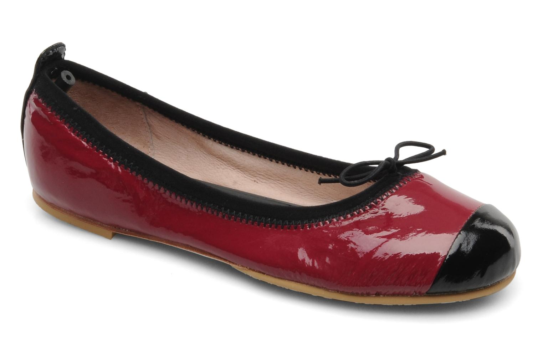 Bailarinas Bloch Girls luxury Vino vista de detalle / par