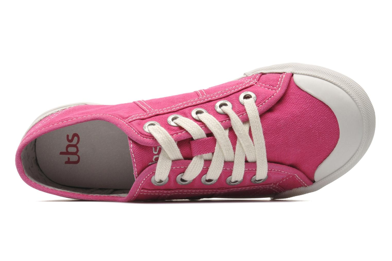 Sneaker TBS Opiace rosa ansicht von links