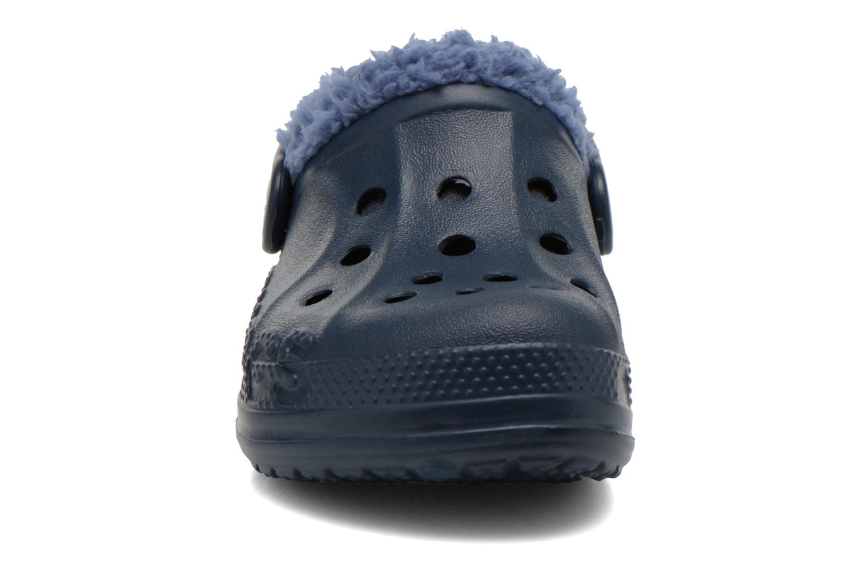 Sandales et nu-pieds Crocs Baya Lined Kids Bleu vue portées chaussures