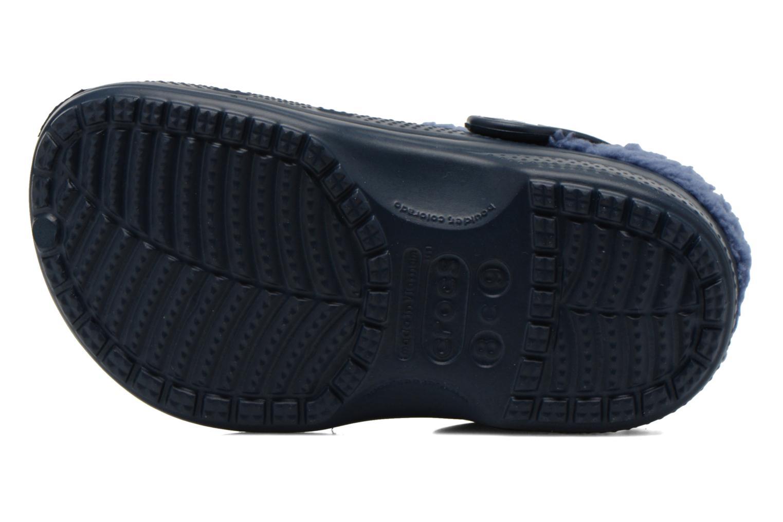 Sandales et nu-pieds Crocs Baya Lined Kids Bleu vue haut