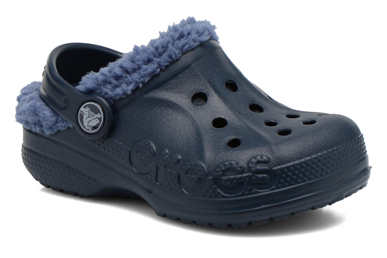 Sandales et nu-pieds Crocs Baya Lined Kids Bleu vue détail/paire