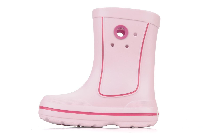 Stiefel Crocs Jaunt hello kitty rosa ansicht von vorne