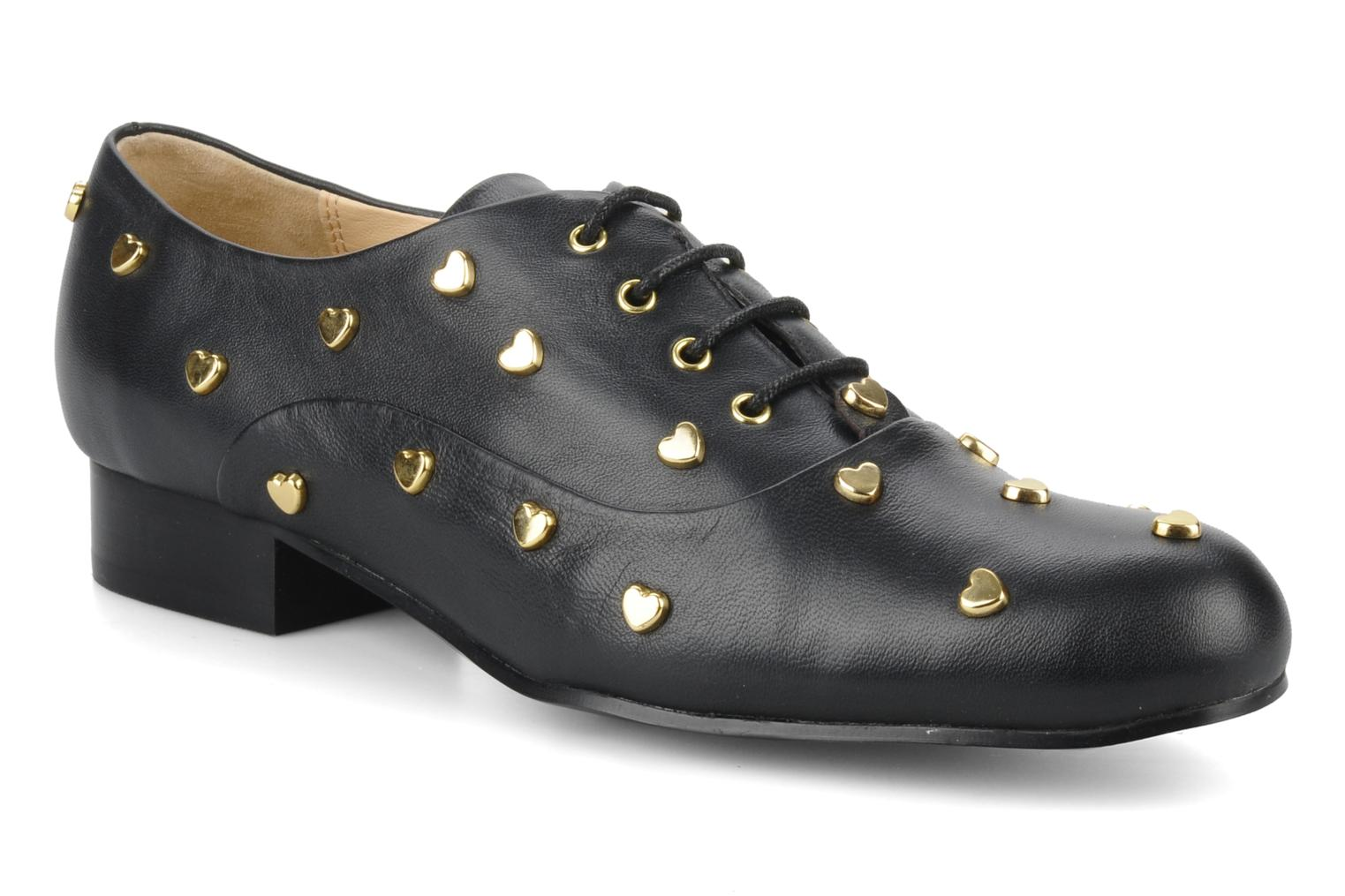 Studded heart Nero