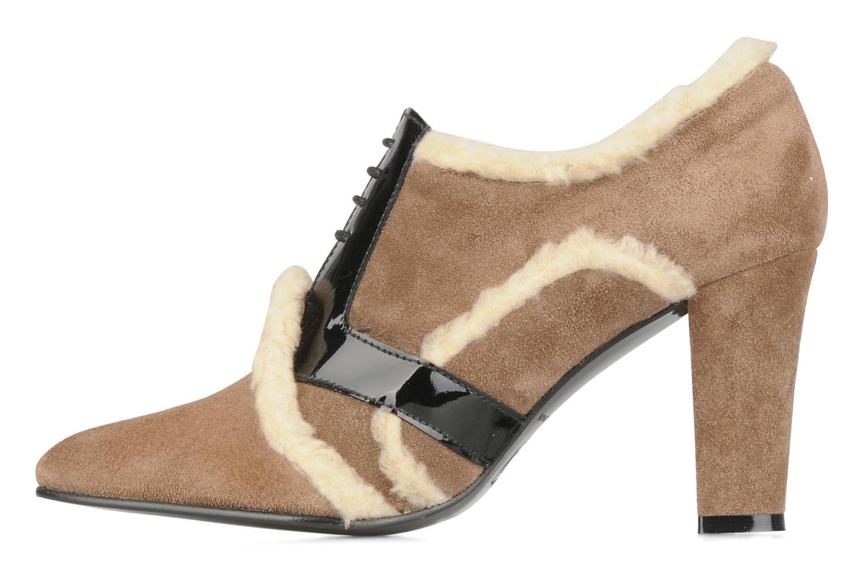 Chaussures à lacets Charlotte Vanel Dandy Marron vue face