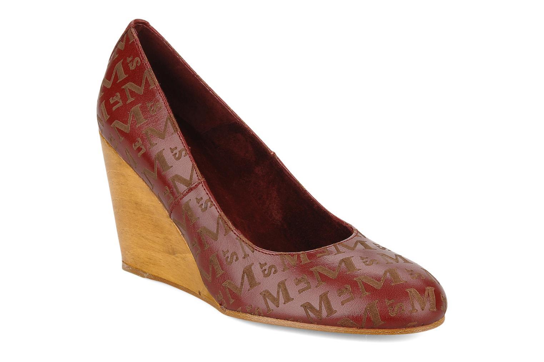 Høje hæle Le Mont St Michel Ponoma Bordeaux detaljeret billede af skoene