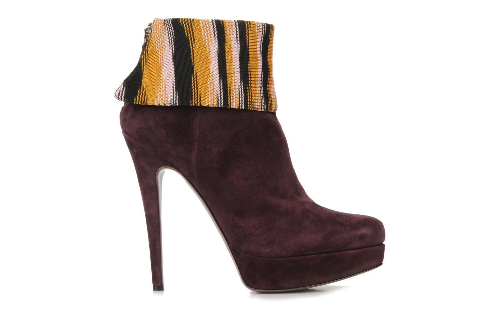 Ankle boots Missoni Sitia Burgundy back view