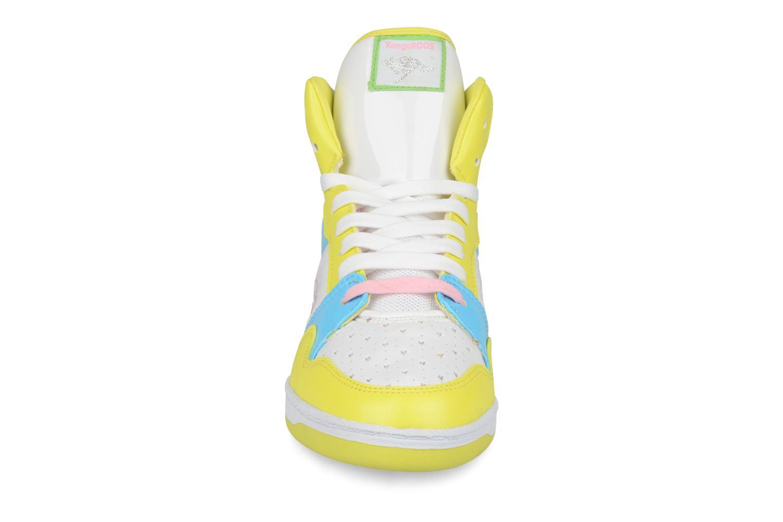 Baskets Kangaroos Giselle Jaune vue portées chaussures