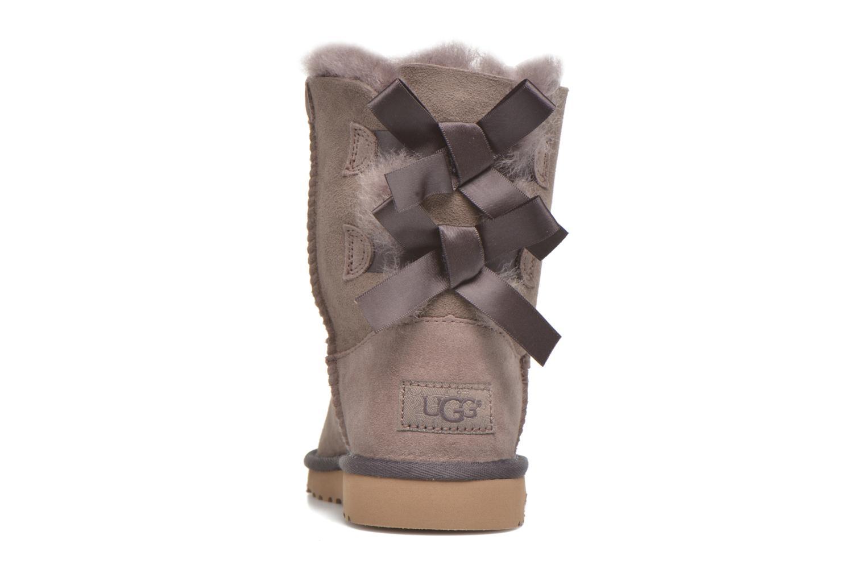 Stiefel UGG Bailey bow grau ansicht von rechts