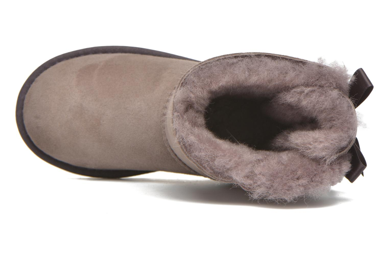 Stiefel UGG Bailey bow grau ansicht von links