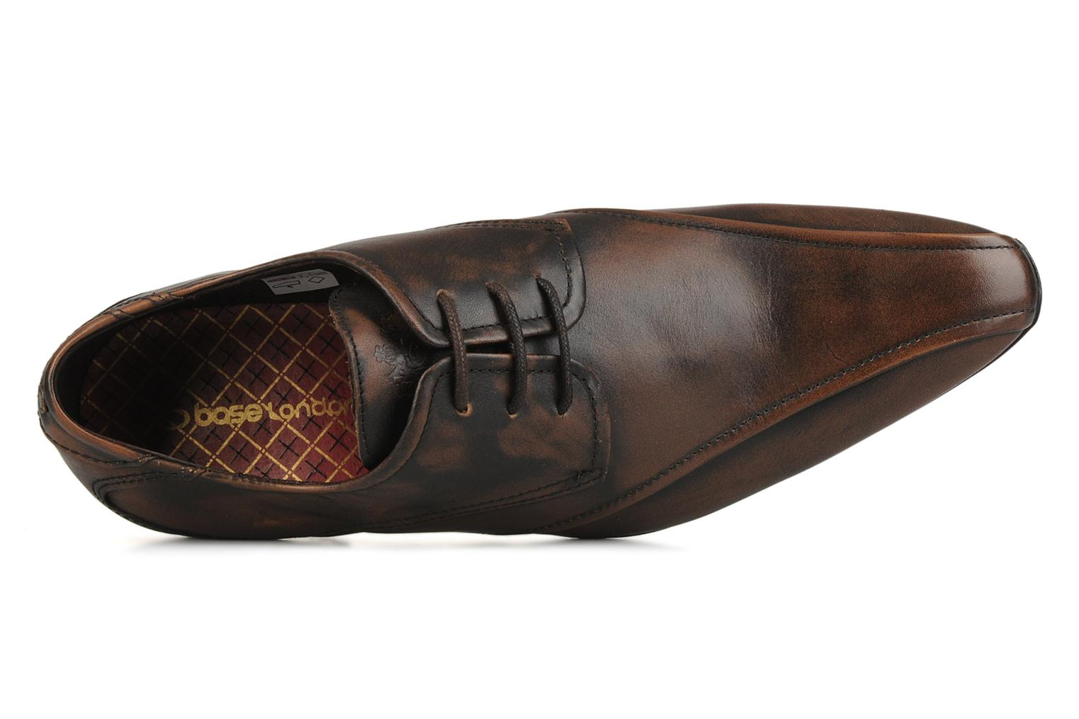Lace-up shoes Base London Aspect Brown view from the left