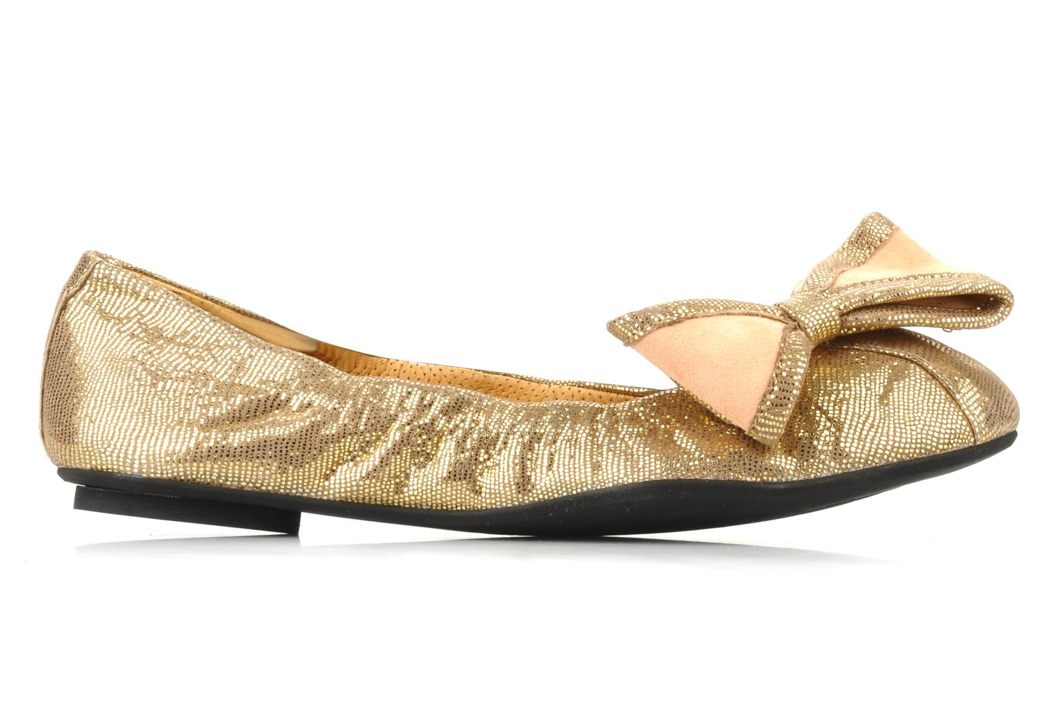 Ballet pumps Maloles Blanche Bronze and Gold back view