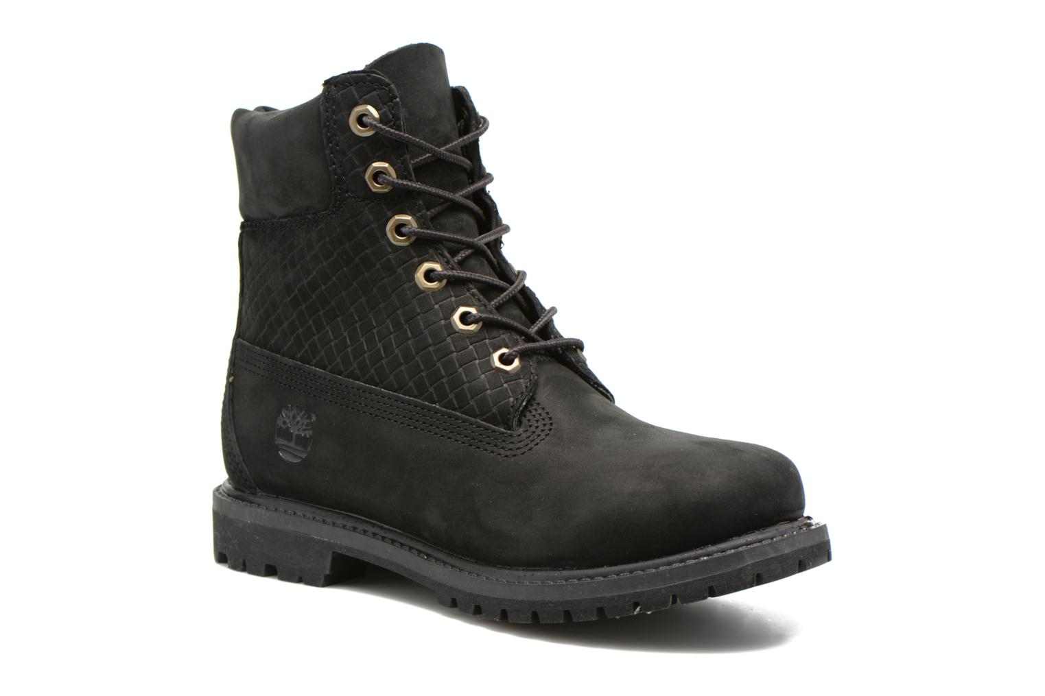 6 in premium boot w Black Nubuck Emboss Black Out