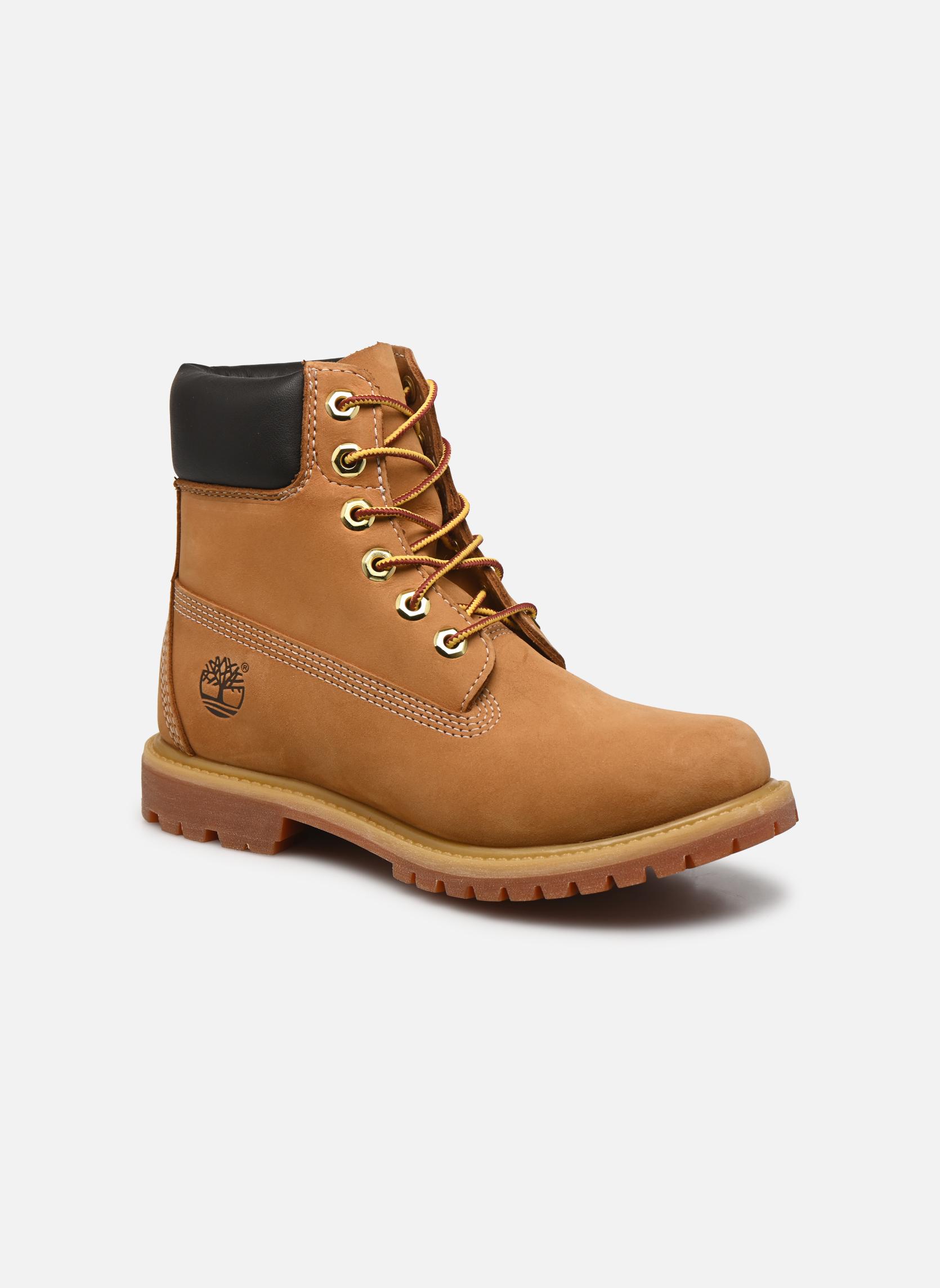 Bottines et boots Timberland 6 in premium boot w Jaune vue détail/paire