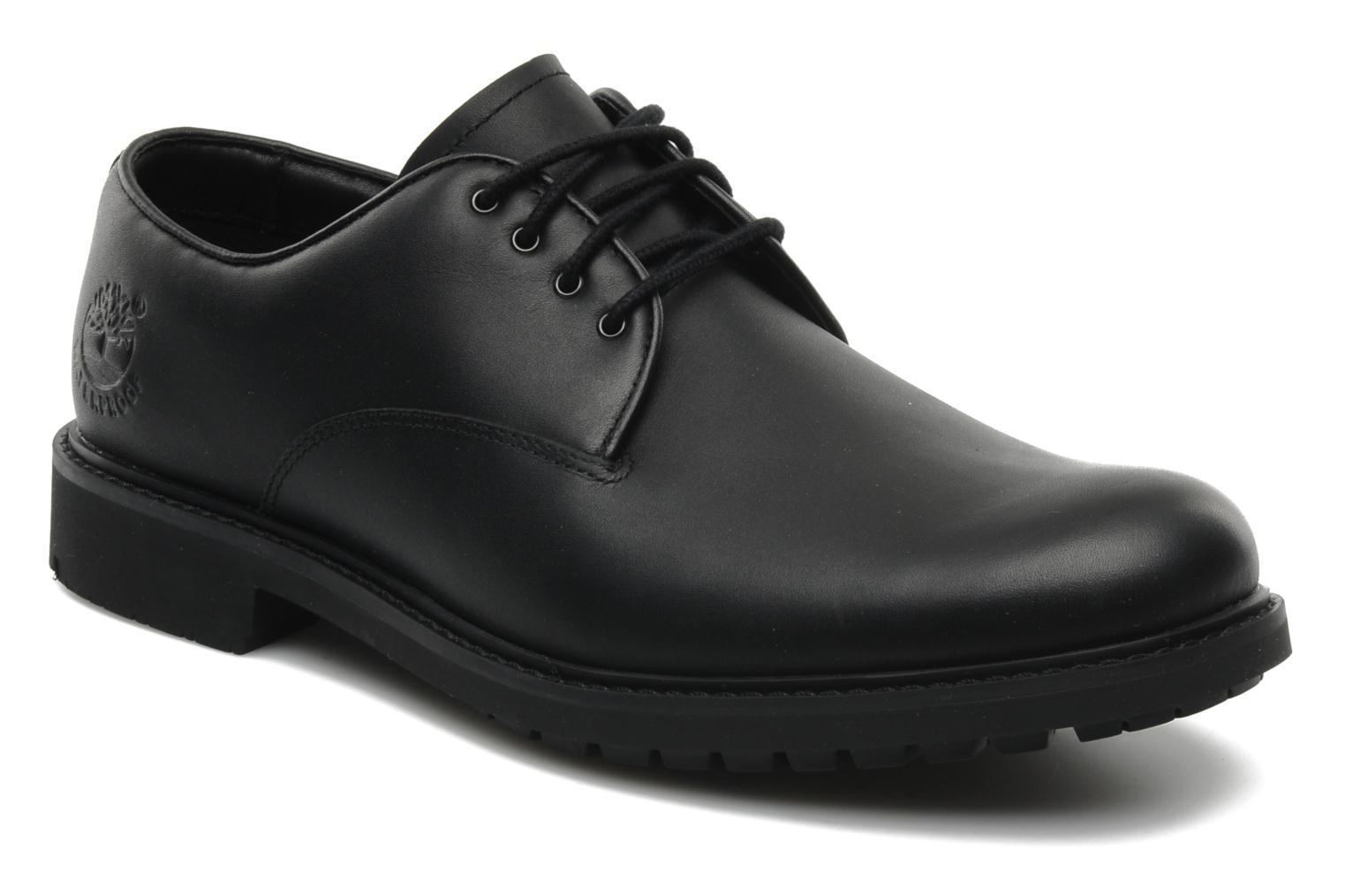 Chaussures à lacets Timberland Earthkeepers Stormbuck Plain Toe Oxford Noir vue détail/paire