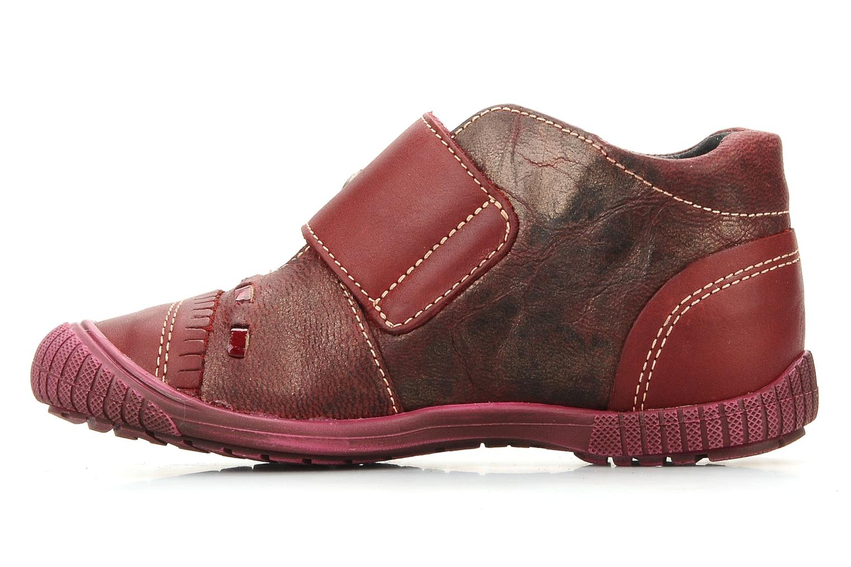 Chaussures à scratch Catimini Cati a23 Bordeaux vue face