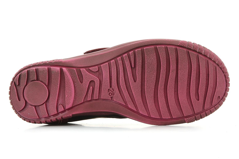 Chaussures à scratch Catimini Cati a23 Bordeaux vue haut