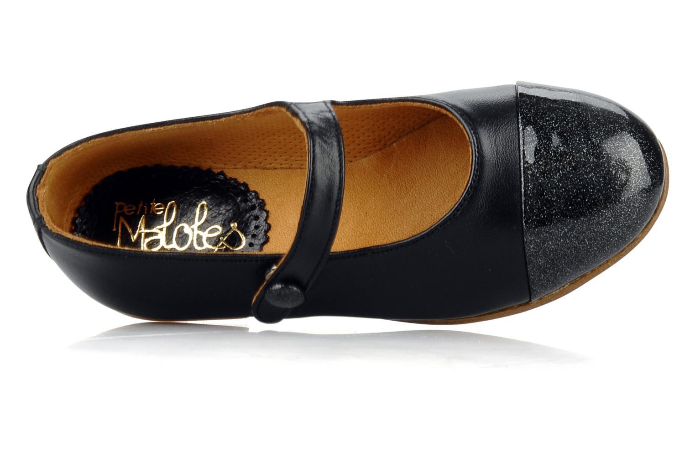 Petite saphir Lambskin black patent glitter black