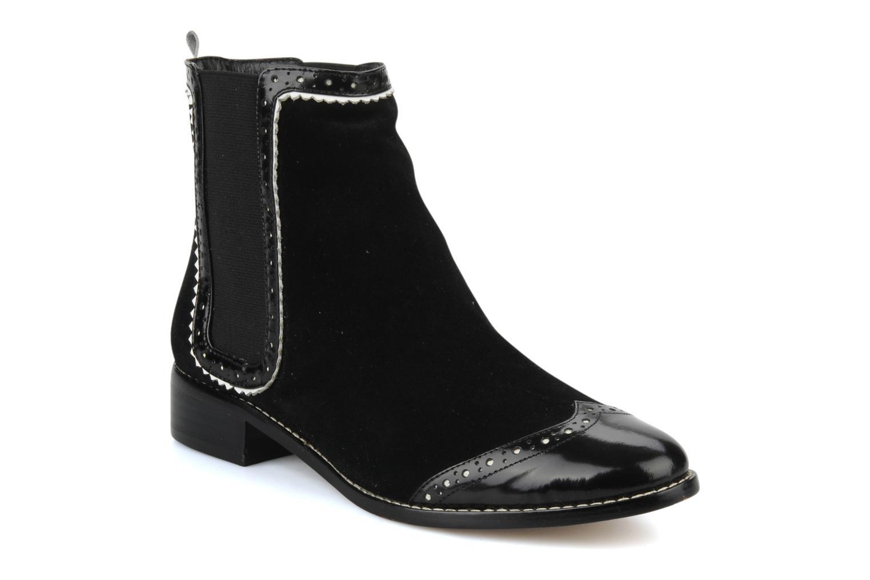 Boots en enkellaarsjes C.Petula Thelma Zwart detail