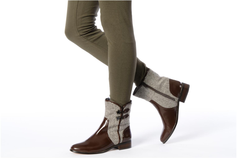 Bottines et boots C.Petula Janette Marron vue bas / vue portée sac