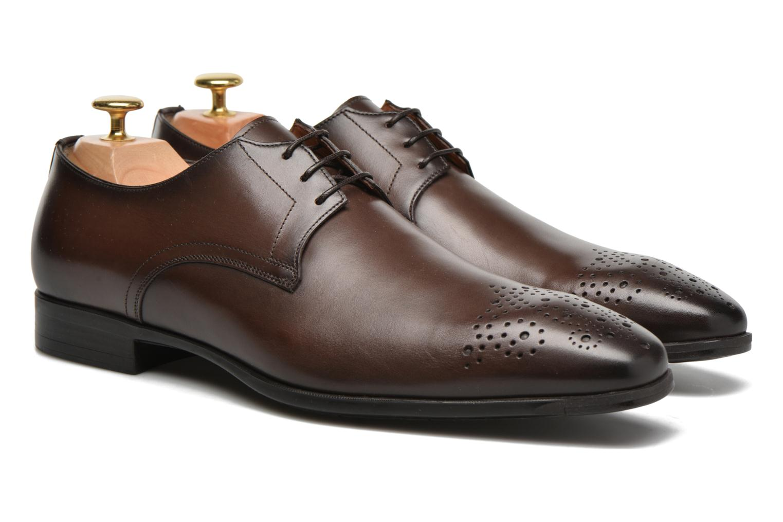 Lace-up shoes Santoni Marlone 11020 Brown 3/4 view