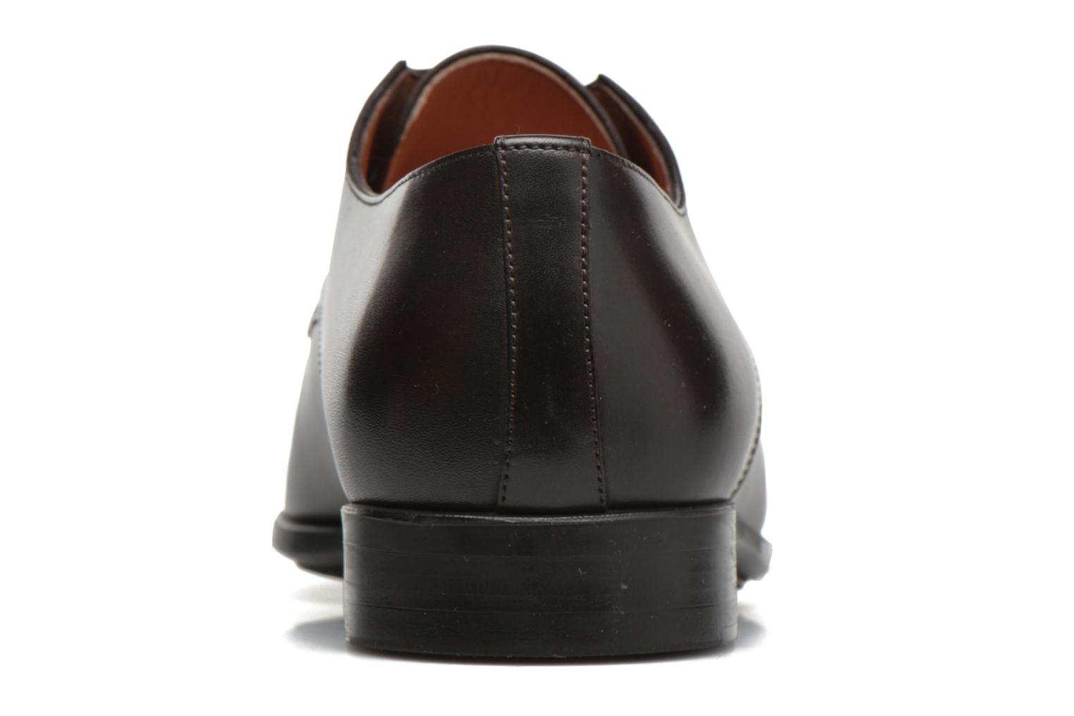 Lace-up shoes Santoni Marlone 11020 Brown view from the right