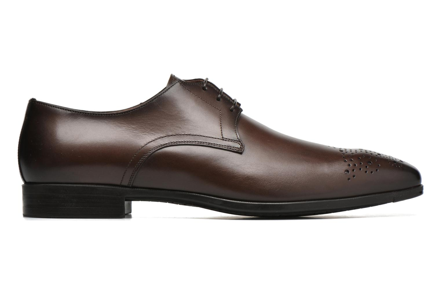 Lace-up shoes Santoni Marlone 11020 Brown back view