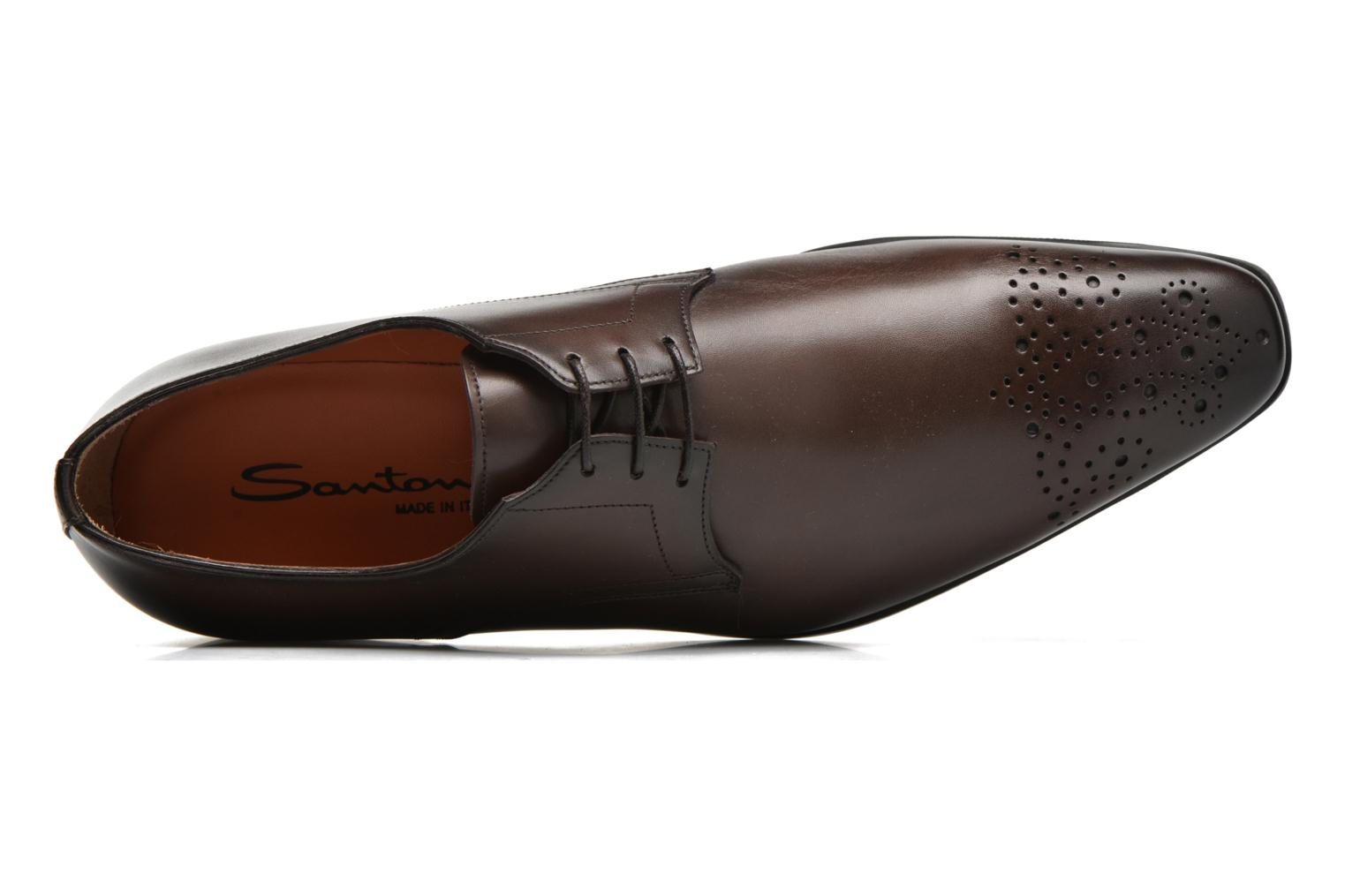 Lace-up shoes Santoni Marlone 11020 Brown view from the left