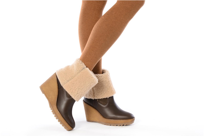 Bottines et boots Pare Gabia Nelice Marron vue bas / vue portée sac