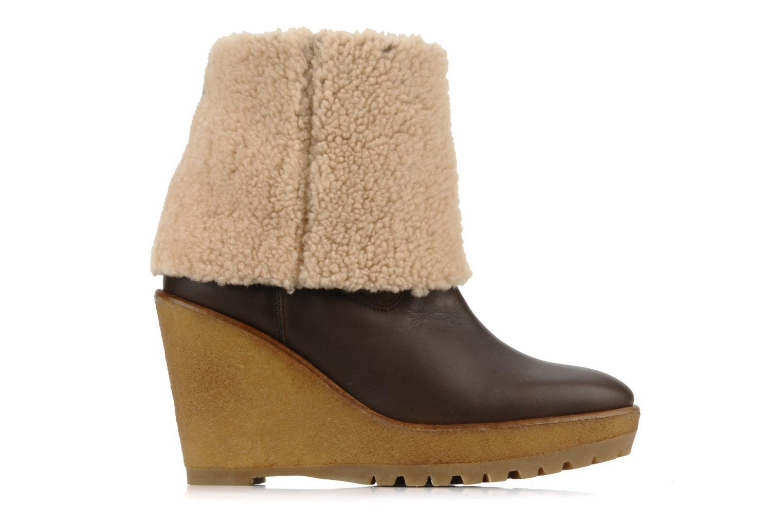 Boots en enkellaarsjes Pare Gabia Nelice Bruin achterkant