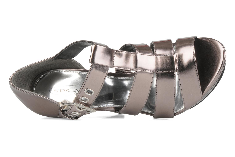 Sandales et nu-pieds Spot On Clochette Or et bronze vue gauche