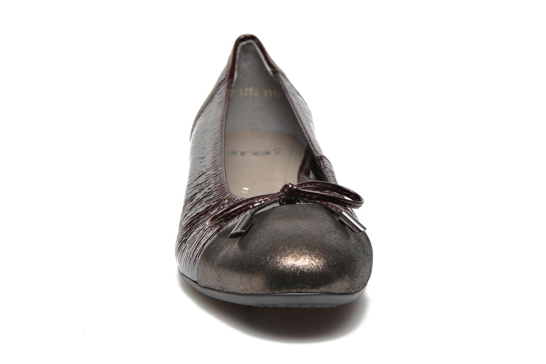Ballerinas Ara Bari weinrot schuhe getragen