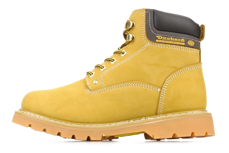 Stiefeletten & Boots Dockers Looka gelb ansicht von vorne