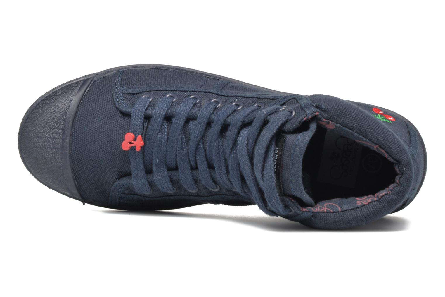 Trainers Le temps des cerises LC Basic 03 Blue view from the left