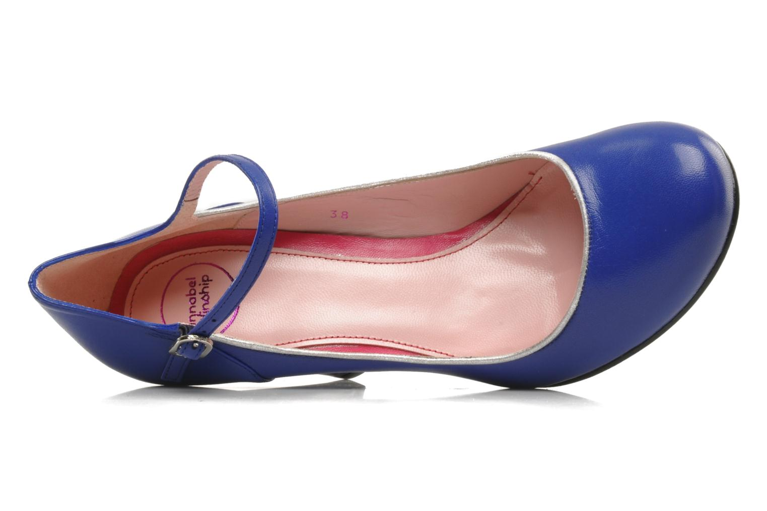High heels Annabel Winship Ice tea Blue view from the left
