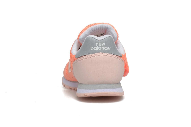 Sneaker New Balance Ka373 orange ansicht von rechts